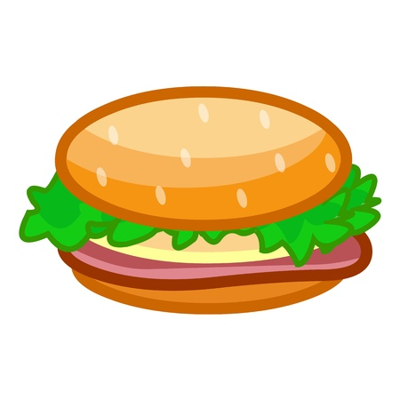hamburger isolated illustration on white background Vector