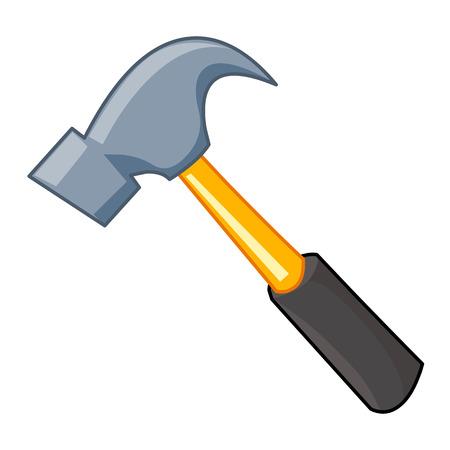 carpentry cartoon: hammer isolated illustration on white background Illustration
