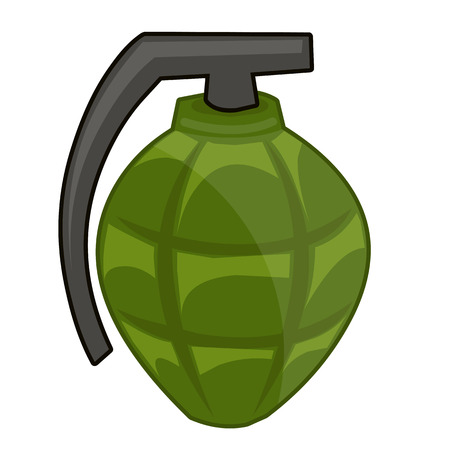 hand grenade: Hand Grenade isolated illustration on white background Illustration