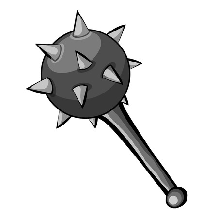 Medieval Mace isolated illustration on white background