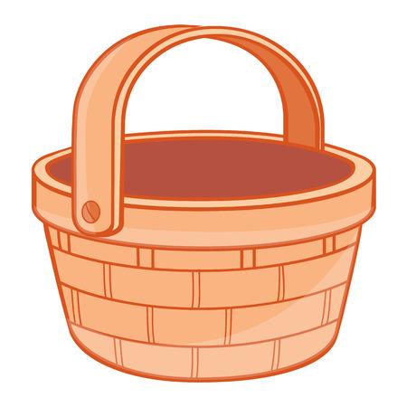 full: Basket, ilustraci�n, sobre fondo blanco Vectores