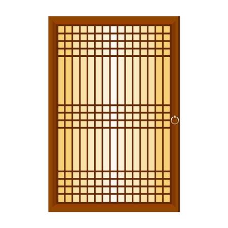 Illustration fenêtre chinois isolé sur fond blanc Banque d'images - 22678126