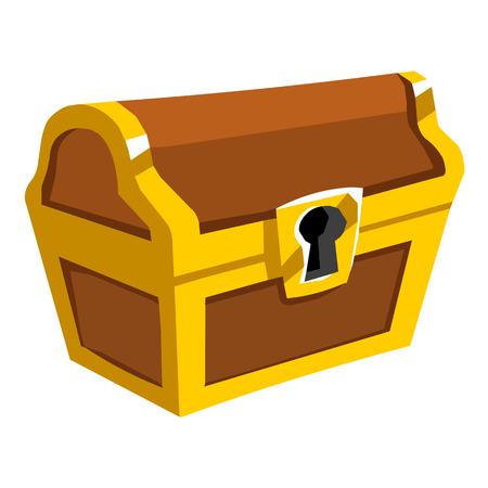 보물 상자는 그림 흰색 배경에 고립 스톡 콘텐츠 - 22678133