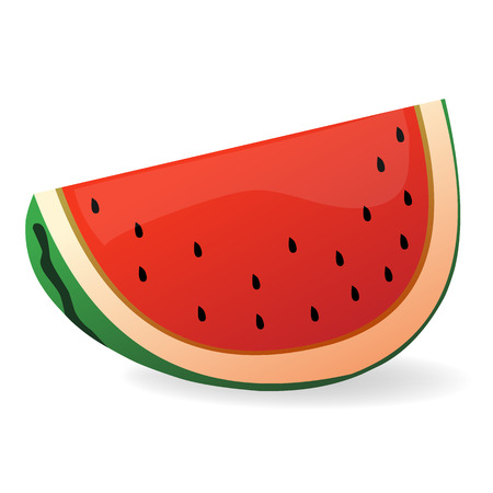 watermelon slice: watermelon slice isolated illustration on white background