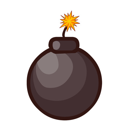 Bomb isolated illustration on white background Stock Vector - 22968782
