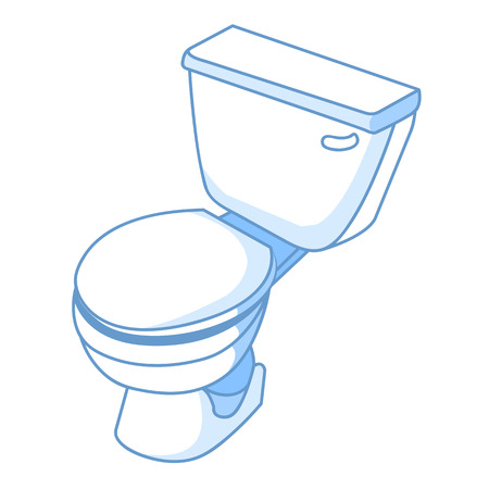 flush toilet: toilet isolated illustration on white background