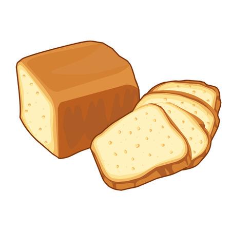 bread loaf Isolated illustration on white background 일러스트