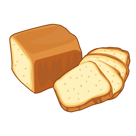 bread loaf Isolated illustration on white background Çizim