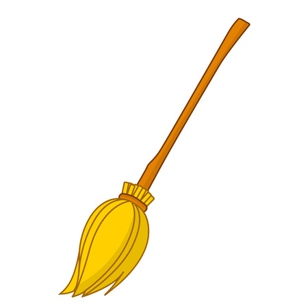 broom isolated illustration on white background Vector