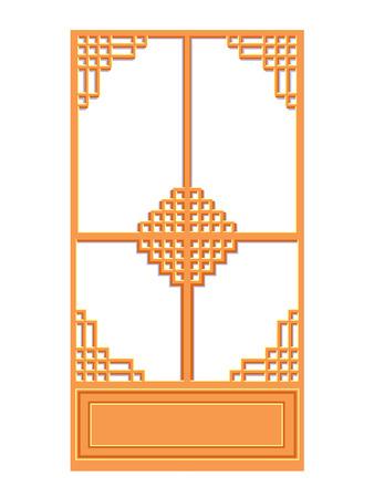 흰색 배경에 중국 창 고립 된 그림