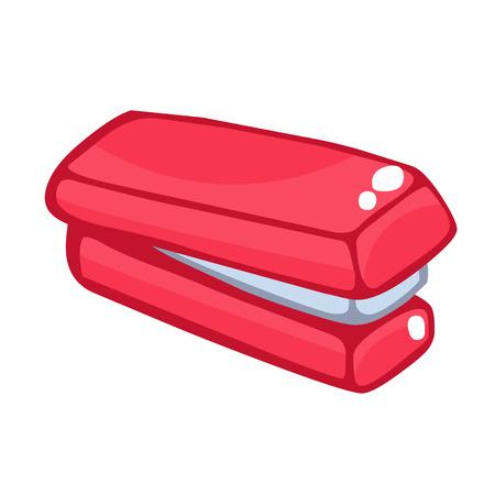 stapling: stapler isolated illustration on white background Illustration