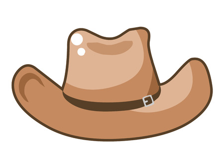 cowboy hat isolated illustration on white background Vector