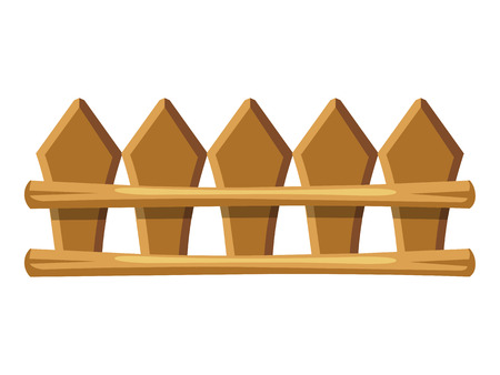 palisade: wooden fence vector illustration on white background