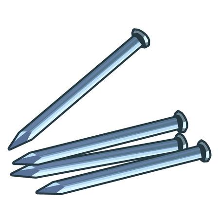 nail isolated illustration on white