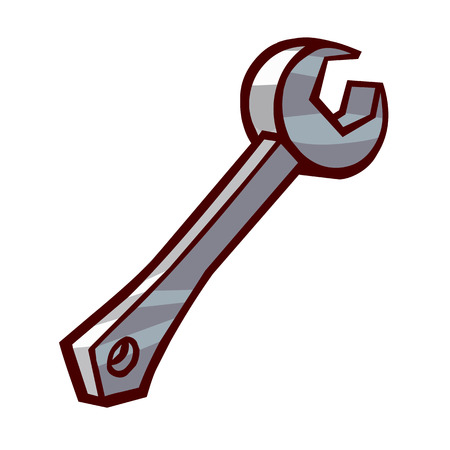 Wrench isolated illustration on white background Stock Vector - 24204223