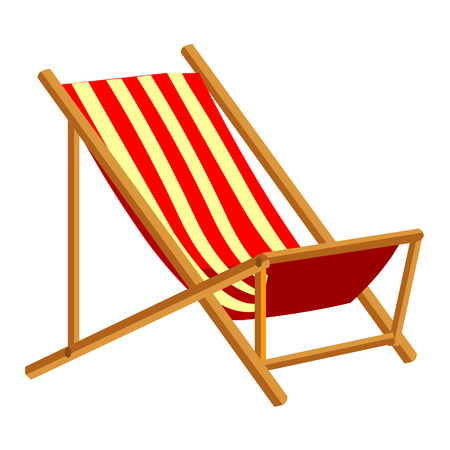 Beach Chair isolated illustration on white background