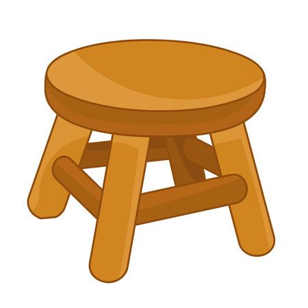 wood Chair isolated illustration on white background Illustration