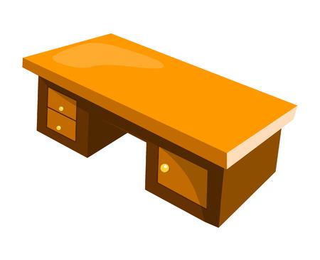 office desk isolated illustration on white background Vector