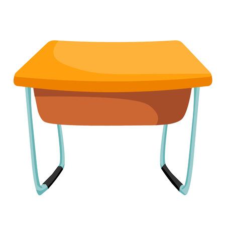 table isolated illustration on white background