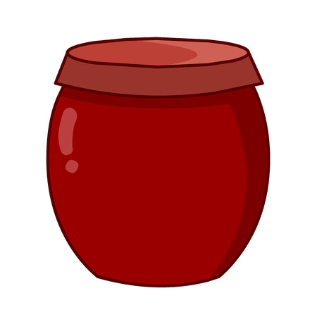 earthenware: ilustraci�n, cer�mica crisol en el fondo blanco