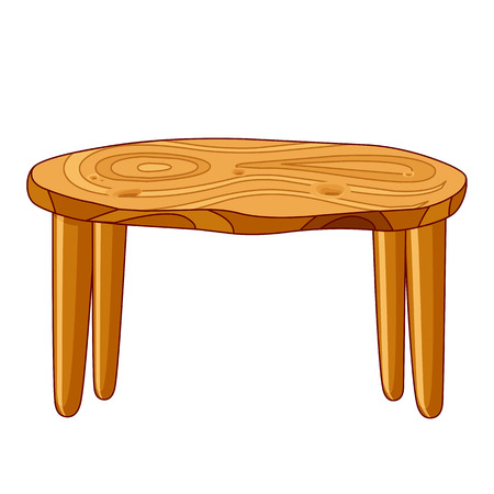 muebles de madera: Aislado Mesa de madera ilustración de fondo blanco