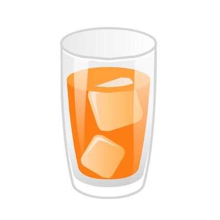 orange juice isolated illustration on white background Illustration