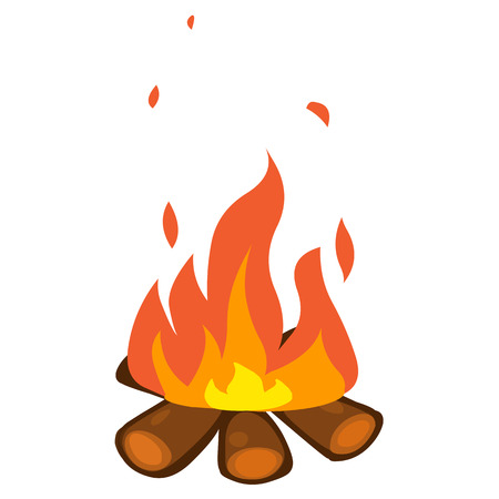 campfire isolated illustration on white background Vector