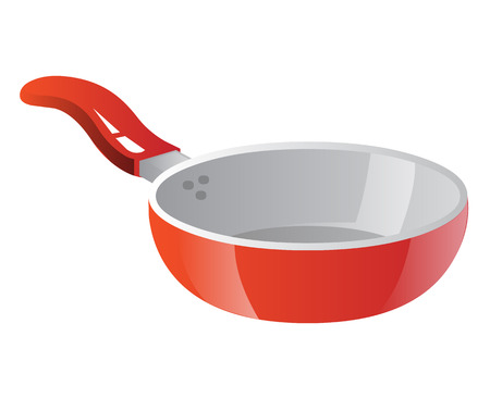 Frying pan isolated illustration on white background