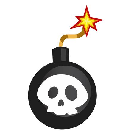 Bomb isolated illustration on white background Vector