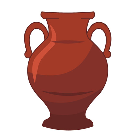 crock: vase isolated illustration on white background