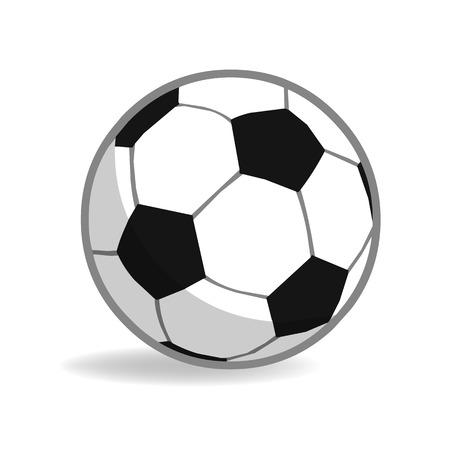 football isolated illustration on white background