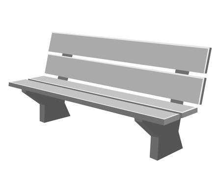park bench isolated illustration on white