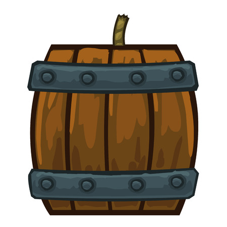 barrel bomb: barrels with gunpowder isolated illustration on white background Illustration