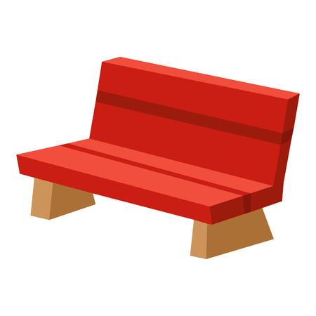 park bench isolated illustration on white background