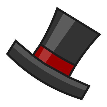 black hat: aislado sombrero ilustraci�n negro sobre fondo blanco Vectores