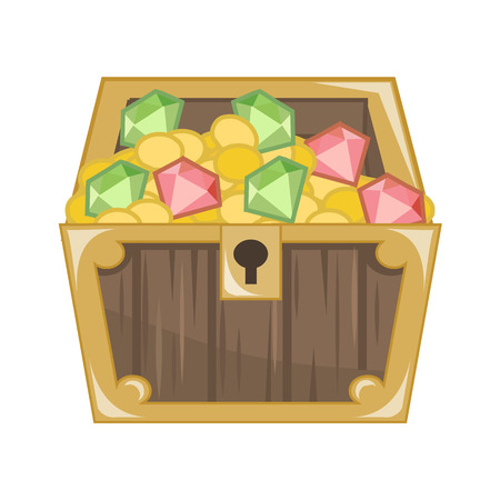 Treasure Chest isolated illustration on white background Vector