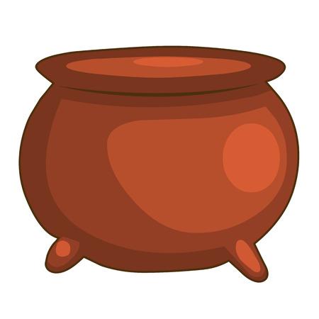 crock: pottery pot isolated illustration on white background