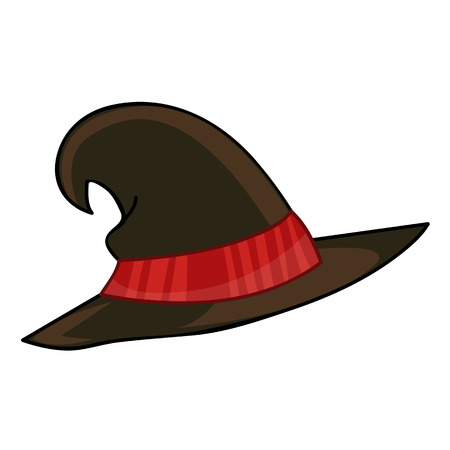 pointy: Witch hat isolated illustration on white background Illustration
