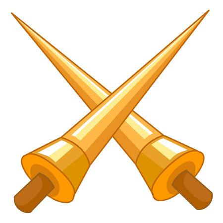 primitive tools: Crossed Lances isolated illustration on white background Illustration