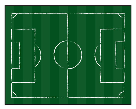 lay out: football court or field isolated illustration on white background Illustration