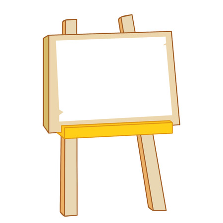 canvas painting: canvas painting on easel isolated illustration