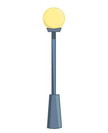 City street lantern isolated illustration on white background