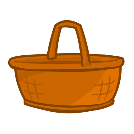 Basket isolated illustration on white background Illustration