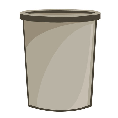 bucket isolated illustration on white background Vector