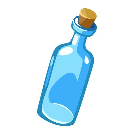 closed corks: empty bottles isolated illustration on white background