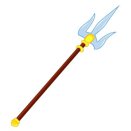 primitive tools: spear weapon  isolated illustration on white background Illustration