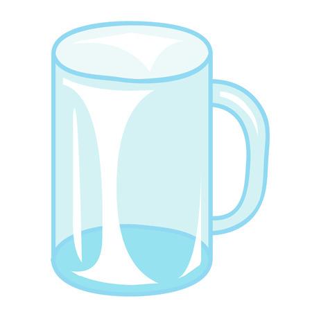 vaso vacio: Ilustraci�n aislada vac�o vaso de vidrio en el fondo blanco