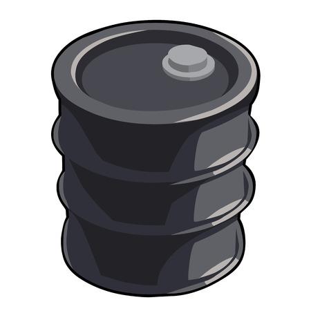barre: black oil barre isolated illustration on white background