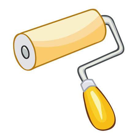 paint roller isolated illustration on white background Vector