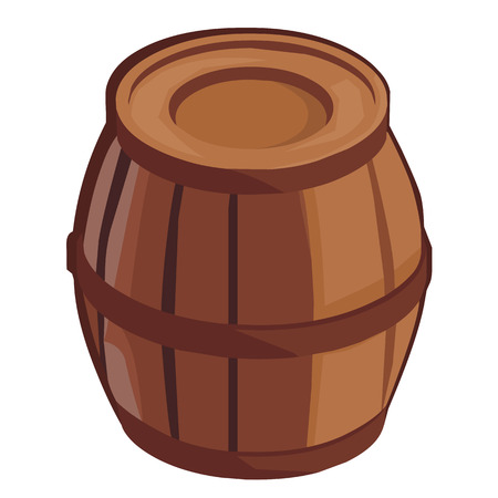 tare: wooden barrel isolated illustration on white background Illustration